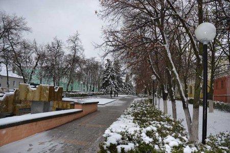 Утро 19 апреля. Город Алексеевка. Зима вернулась...